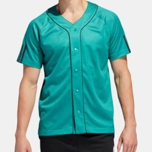 adidas Men's Baseball Jersey green small
